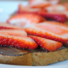 Nutella Toast with Strawberries