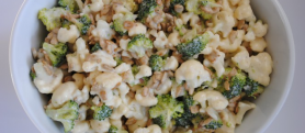 Simple Broccoli & Cauliflower Salad