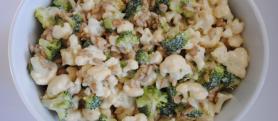 Simple Broccoli & Cauliflower Salad