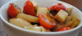 Cucumber, Tomato and Mozzarella Salad