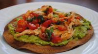 Chicken and Guacamole Tostadas