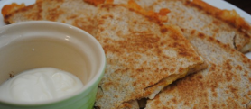 Jack, Chicken and Peach Quesadillas