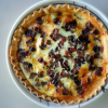Summer Squash, Bacon and Mozzarella Quiche