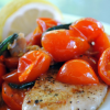 Pan-Fried Tilapia with Tomato Basil Saute