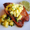 Honey-Glazed Salmon with Pineapple Salsa