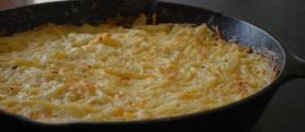 Cast Iron Cheesy Potatoes