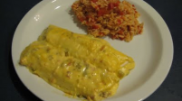 Enchiladas Verdes with Mexican Rice