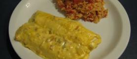 Enchiladas Verdes with Mexican Rice