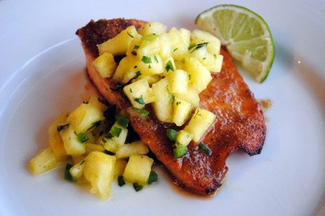 Honey-Glazed Salmon with Pineapple Salsa « The Red Bird Life