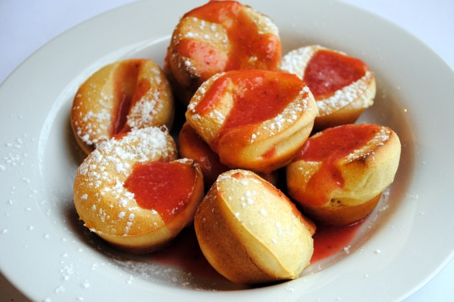 Mini Puffed Pancakes with Strawberry Sauce « The Red Bird Life